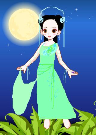 彩虹堂服装馆 涂鸦馆 作品欣赏 当前用户:  标  题: 七仙女之青儿 作
