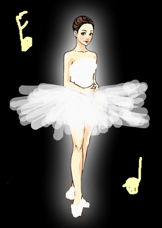 芭蕾小女孩简笔画