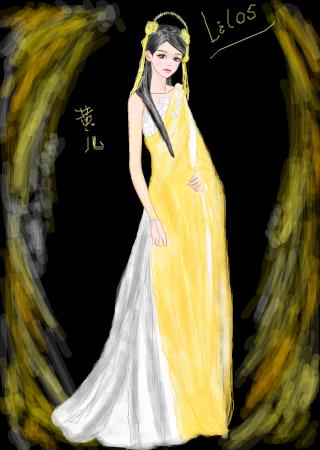 手绘古装仙女图