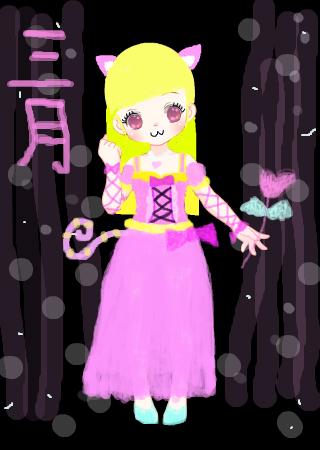 超萌♀猫女~ 的涂鸦欣赏 作品编号[2426351] - 彩虹堂