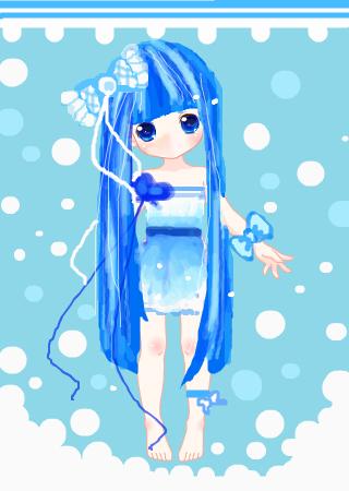 萌可爱卡通图片蓝色