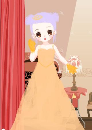 童,那件橙色的婚纱 -时尚小公主