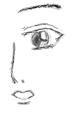 涂鸦馆 作品欣赏 当前用户:  标题: 半边脸图片