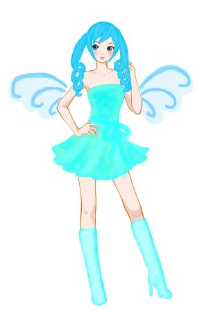 彩虹堂服装馆 涂鸦馆 作品欣赏 当前用户:  标  题: 有着一双翅膀的女
