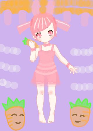 彩虹堂服装馆 涂鸦馆 作品欣赏 当前用户:  标  题: 小兔子喜欢胡萝卜