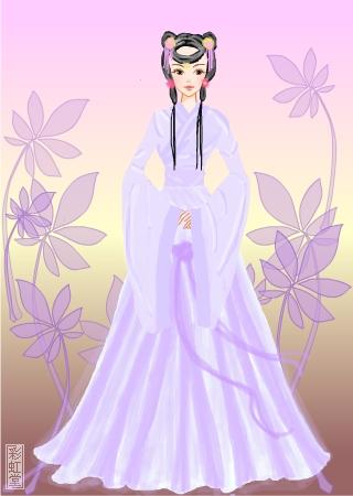 题: 紫衣仙女图片