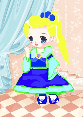 彩虹堂服装馆 涂鸦馆 作品欣赏 当前用户:  标  题: 可爱小公主 作