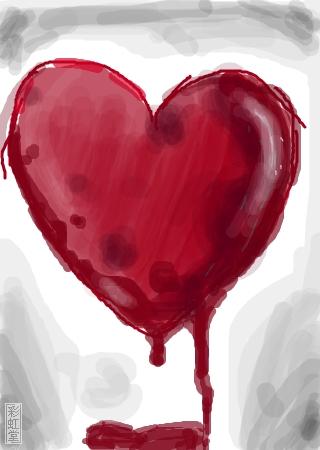 题: 滴血的心图片