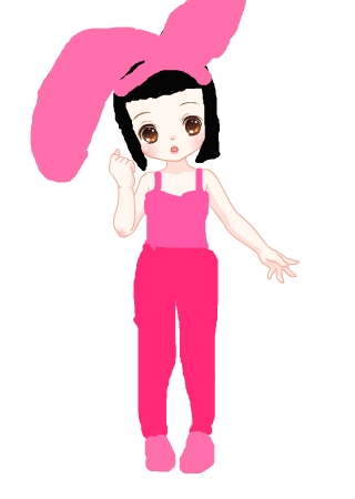 标题: 可爱小白兔 作&