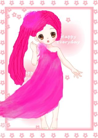 标  题: 粉色系的可爱小女孩,我在心里一直想像着这样的一个人物