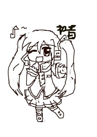 可爱果冻~初音 的涂鸦欣赏 作品编号[2963995] - 彩虹