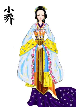 标  题: 回到三国的小乔~tvb的服饰很麻烦画了很久.