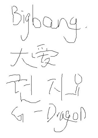 手绘版bigbang简笔画