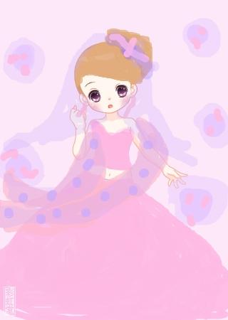 画画 公主 可爱 漂亮
