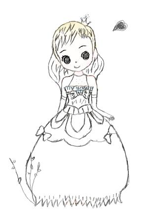 小公主简笔画图片