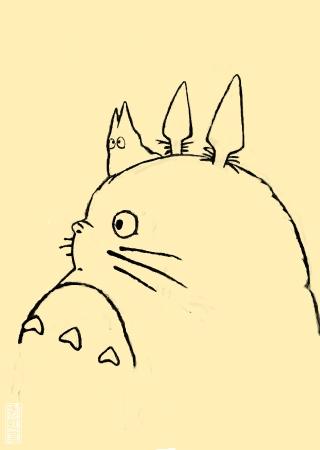 手绘龙猫步骤图
