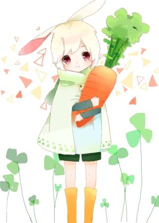 【这次是抱着胡萝卜的兔子w[×]上次那个是抱着兔子的.嗯.