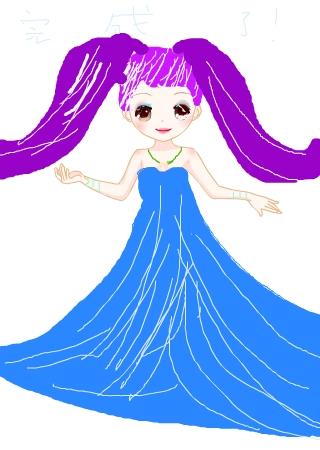简单又好看的公主图片_美丽小公主7777的涂鸦欣赏作品编号351846
