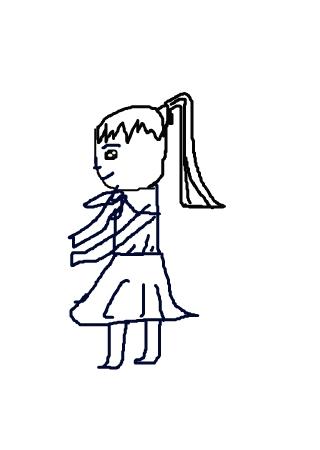 卡通小芽简笔画