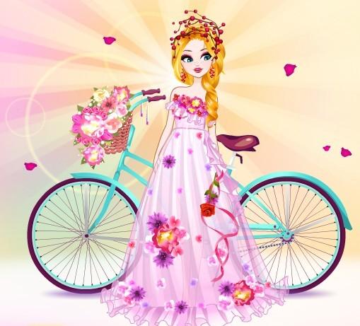 骑单车的女孩