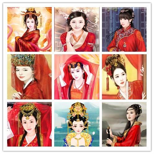 手绘美女红色系列
