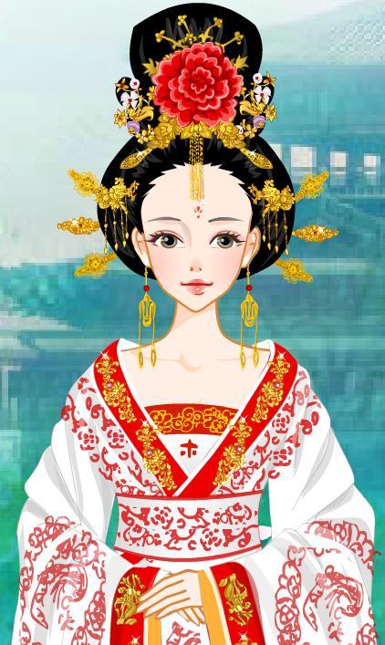 古风手绘图皇后