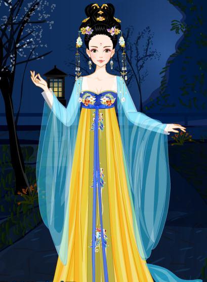 手绘坐着的公主
