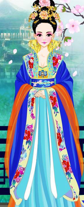 杨颖手绘图片卡通壁纸