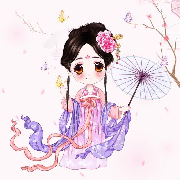 可爱的小公主在游玩,花花吧