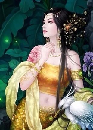 书亦飞古装美女手绘