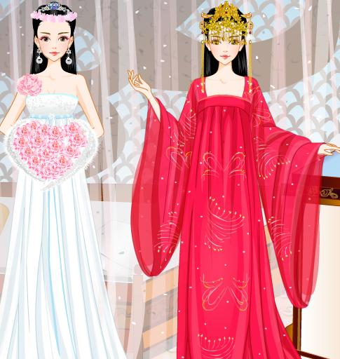 现代新娘和古代新娘图片