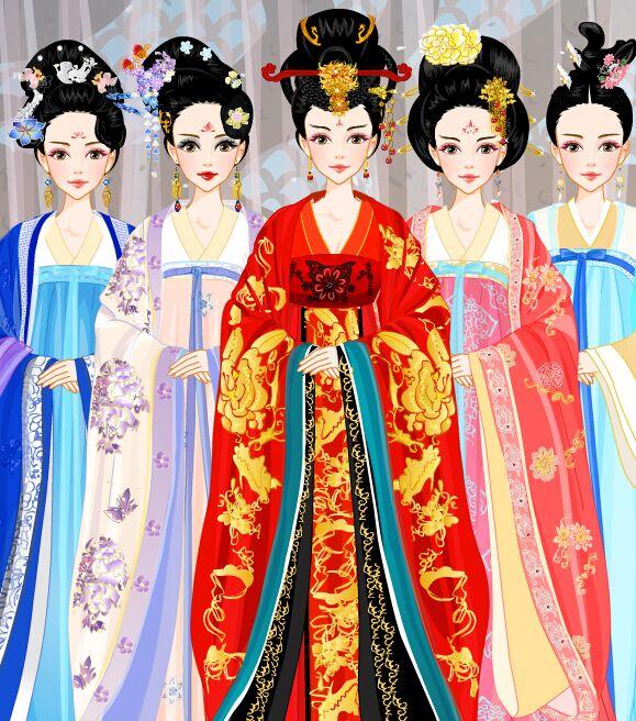 容: 【梦回唐朝】系列之--大唐后妃,从左到右依次是萧淑妃,陶美人,武图片