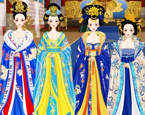 手绘古装皇后嫁衣