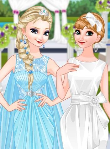 艾莎和安娜的变装游戏