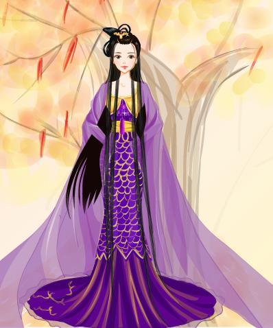 卡通頭像女紫色