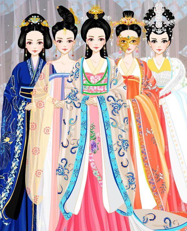 古装美人】系列之--洒脱女神林心如合集,从左到右依次是窦漪房,武则天