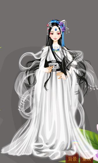 嫁衣古装女子卡通