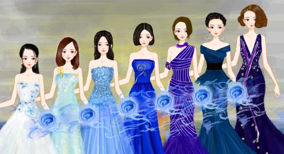 蓝色晚礼服系列