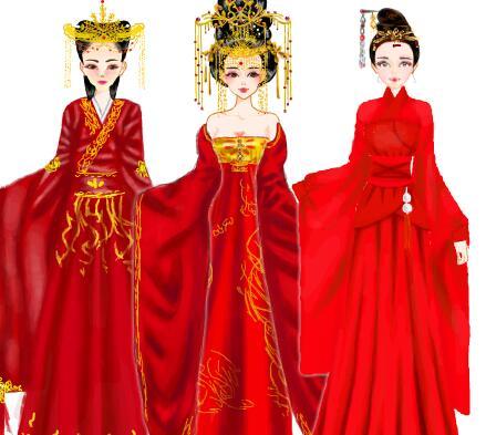 古代红衣女子