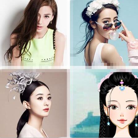 杨颖照片手绘图片