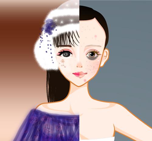 (ps:素材就是游戏里扣的模特,头发衣服等都是画的喜欢献花谢谢思密达