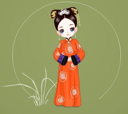 清宫人物卡通头像