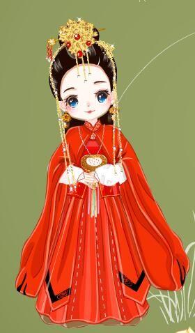 鹿晗古装手绘卡通