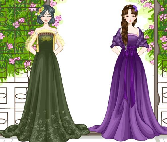 淡紫色的衣裙显出主人幽兰的气质,配上高昂的发髻和精致的发饰,使人眼前一亮,而灰红色的美人记和长长的金色耳环,更让人陶醉其中,裹胸中的刺绣更显出中华的文化,也更加动人。刺绣礼服。(大家喜欢哦!) (2) [献花]