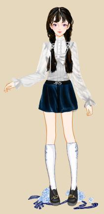 可爱小萝莉系列之一,学院制服装,原型是双笙妹子.