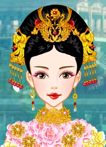 清朝皇后(花钿)图片