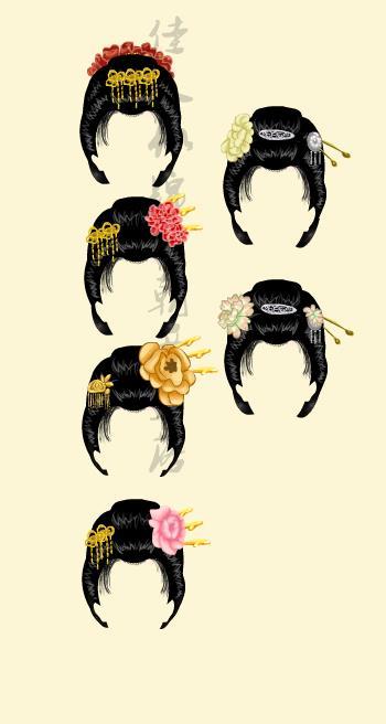 唐朝仕女发型图片